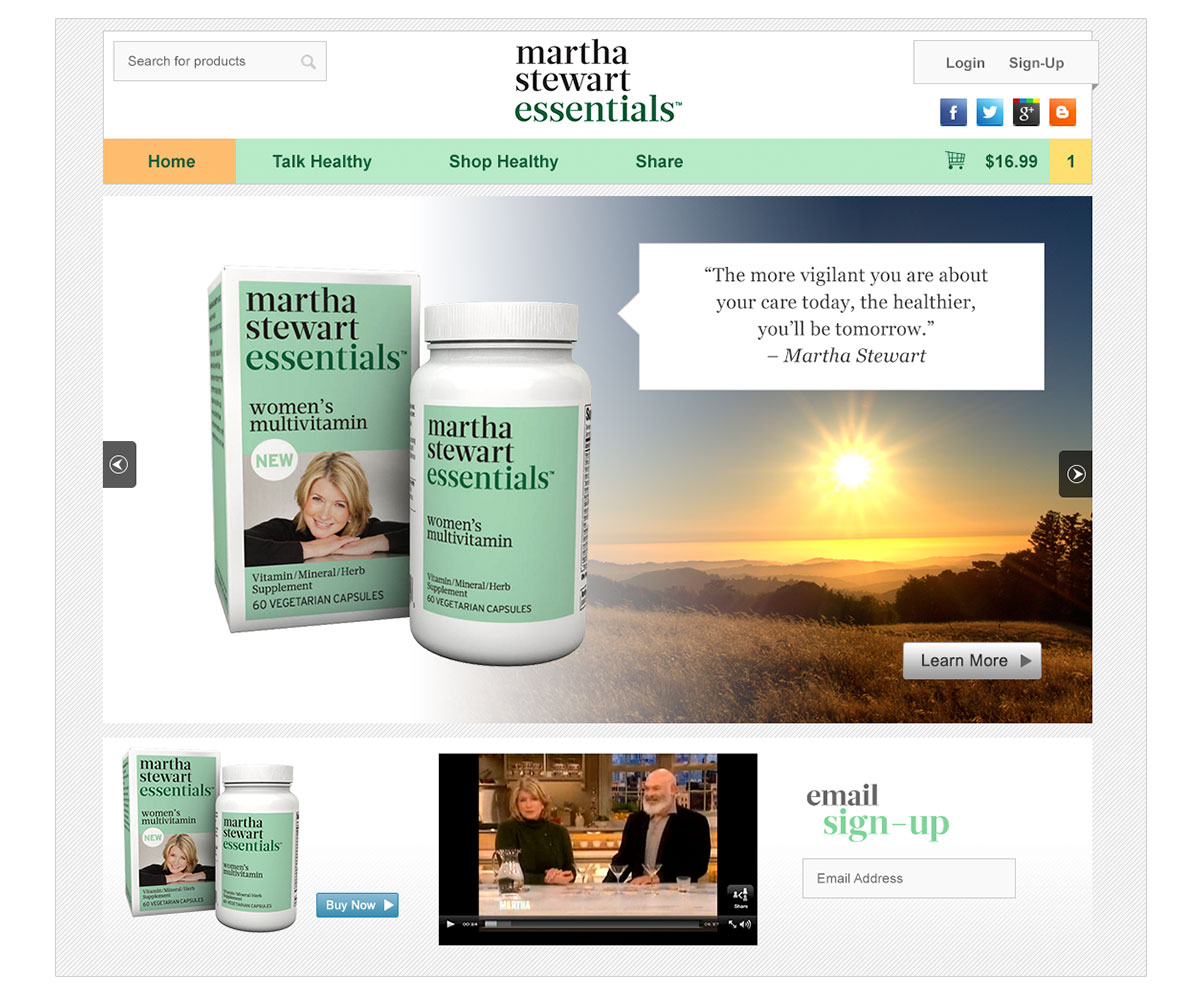 Martha Stewart Essentials Website